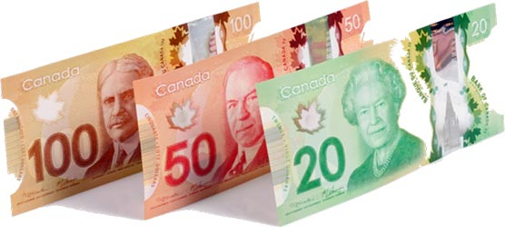 Canadian dollar bills